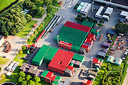Nederland, Zuid-Holland, Zoeterwoude, 15-07-2012; Zoeterwoude-Rijndijk, Heineken brouwerij, opslag van kratten van Mastel en Heineken..Beer brewery Heineken, storage and .luchtfoto (toeslag), aerial photo (additional fee required).foto/photo Siebe Swart