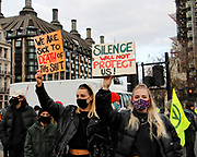 Women oppose the protest bill being passed to restrict the right to protest. London. March 15th 2021. Anna Hatfield