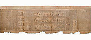 """Ancient Egyptian Book of the Dead papyrus - Spell 105 for gratifying the deceased with Ka, Iufankh's Book of the Dead, Ptolemaic period (332-30BC).Turin Egyptian Museum White Background<br /> <br /> The spell is """" Hail to thee, my spirit, my lifetime. Behold I am come unto thee risen, powerful, posessed of a soul, mighty.<br /> <br /> You who weighs in the balance. may truth rise to the nose of Ra, on that day of judgement, ley not my head be taken away from me.""""<br /> <br /> The translation of  Iuefankh's Book of the Dead papyrus by Richard Lepsius marked a truning point in the studies of ancient Egyptian funereal studies. .<br /> <br /> If you prefer to buy from our ALAMY PHOTO LIBRARY  Collection visit : https://www.alamy.com/portfolio/paul-williams-funkystock/ancient-egyptian-art-artefacts.html  . Type -   Turin   - into the LOWER SEARCH WITHIN GALLERY box. Refine search by adding background colour, subject etc<br /> <br /> Visit our ANCIENT WORLD PHOTO COLLECTIONS for more photos to download or buy as wall art prints https://funkystock.photoshelter.com/gallery-collection/Ancient-World-Art-Antiquities-Historic-Sites-Pictures-Images-of/C00006u26yqSkDOM"""