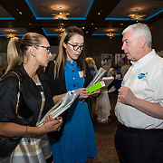 23.05.2018.       <br /> Today, the Institute of Community Health Nursing (ICHN) hosted its2018 community nurseawards in association withHome Instead Senior Care,at its annual nursing conference, in the Strand Hotel Limerick, rewarding public health nurses for their dedication to community care across the country. <br /> <br /> Pictured at the event were, Sandra Flaherty and Aoife McEvoy with Joseph Mayne, Biofact. Picture: Alan Place