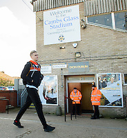 Blackpool's Brad Potts arrives at the ground<br /> <br /> Photographer Chris Vaughan/CameraSport<br /> <br /> The EFL Sky Bet League Two - Cambridge United v Blackpool - Saturday 14th January 2017 - The Cambs Glass Stadium - Cambridge<br /> <br /> World Copyright © 2017 CameraSport. All rights reserved. 43 Linden Ave. Countesthorpe. Leicester. England. LE8 5PG - Tel: +44 (0) 116 277 4147 - admin@camerasport.com - www.camerasport.com