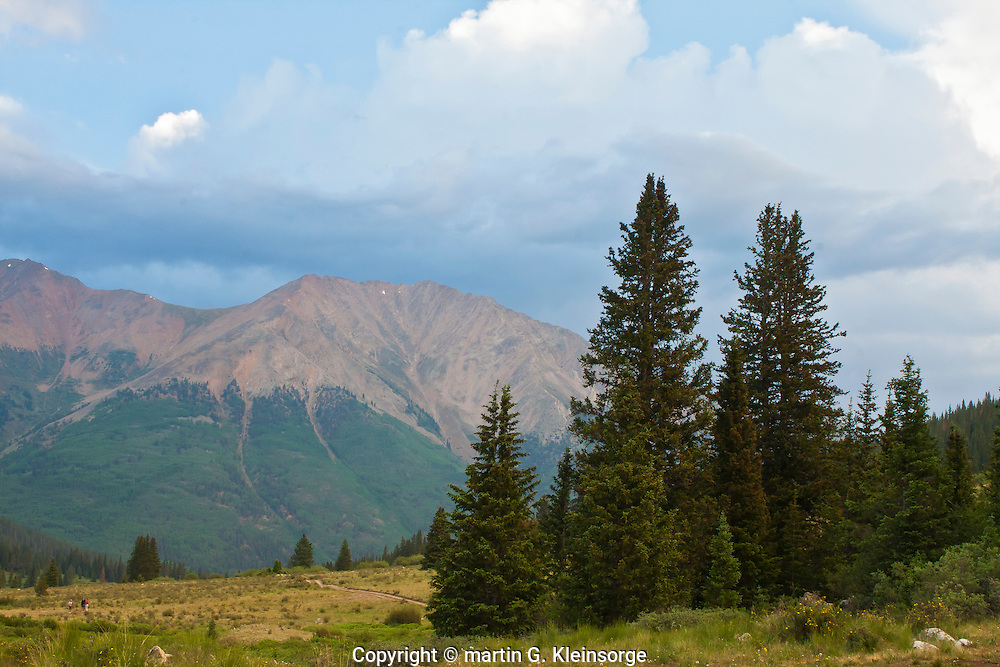 Evening light over 13,531 ft. Ervin Peak of the Sawatch Mountains, Colorado.