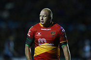 Brok Harris of the Dragons. Guinness Pro14 rugby match, Cardiff Blues v Dragons at the Cardiff Arms Park in Cardiff, South Wales on Friday 6th October 2017.<br /> pic by Andrew Orchard, Andrew Orchard sports photography.