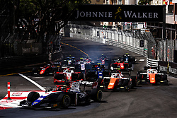May 25, 2018 - Montecarlo, Monaco - Race start during the Monaco Formula Two race 1  at Monaco on 25th of May, 2018 in Montecarlo, Monaco. (Credit Image: © Xavier Bonilla/NurPhoto via ZUMA Press)