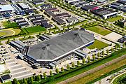 Nederland, Flevoland, Dronten, 07-05-2018; Kunstijsbaan, Leisure World Ice Center.<br /> <br /> luchtfoto (toeslag op standard tarieven);<br /> aerial photo (additional fee required);<br /> copyright foto/photo Siebe Swart