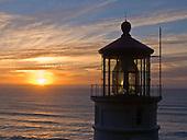 Oregon lighthouses, ships