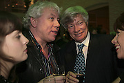 Geoffry Robertson and John Walsh, Colman Getty's 20th Birthday party. The Imagination Gallery. Store St. London W1. 17 January 2006.  -DO NOT ARCHIVE-© Copyright Photograph by Dafydd Jones. 248 Clapham Rd. London SW9 0PZ. Tel 0207 820 0771. www.dafjones.com.