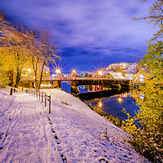 This picture has been taken after the first winter snow in Trondheim when still the trees had the beautiful autumn colors. Please feel free to find me by: |Website| ,