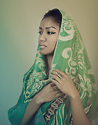 Model Ivey veiled for modesty and beauty