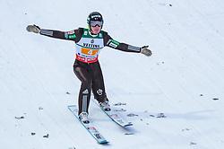 21.01.2018, Heini Klopfer Skiflugschanze, Oberstdorf, GER, FIS Skiflug Weltmeisterschaft, Teambewerb, im Bild Domen Prevc (SLO) // Domen Prevc of Slovenia during Team competition of the FIS Ski Flying World Championships at the Heini-Klopfer Skiflying Hill in Oberstdorf, Germany on 2018/01/21. EXPA Pictures © 2018, PhotoCredit: EXPA/ JFK