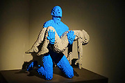 Statue from Lego building blocks at the Holon Children's museum. Holon, Israel