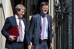 London, UK. 16 July, 2019. Greg Clark MP, Secretary of State for Business, Energy and Industrial Strategy, leaves 10 Downing Street following a Cabinet meeting.
