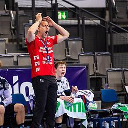 Maik Machulla (Trainer SG Flensburg-Handewitt) ; Schrei / Spannung / LIQUI MOLY HBL / 1. Handball-Bundesliga: TVB Stuttgart - SG Flensburg-Handewitt am 09.06.2021 in Stuttgart (PORSCHE Arena), Baden-Wuerttemberg, Deutschland<br /> <br /> Foto © PIX-Sportfotos *** Foto ist honorarpflichtig! *** Auf Anfrage in hoeherer Qualitaet/Aufloesung. Belegexemplar erbeten. Veroeffentlichung ausschliesslich fuer journalistisch-publizistische Zwecke. For editorial use only.