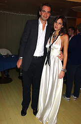 FRITZ VON WESTENHOLZ and CAROLINE SIEBER at a fashion show by ISSA held at Cocoon, 65 Regent Street, London on 21st September 2005.<br />
