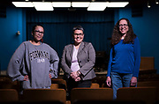 Elected Madison Metro School District Board members Ali Muldrow, Ananda Mirilli, and Christina Carusi stand for a portrait at the MMSD Doyle Administration Building in Madison, WI on Monday, April 15, 2019.