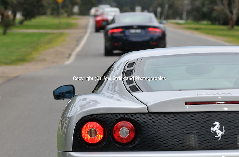 2004 Ferrari 360 Challenge Stradale (Argento Nurburgring) .Corporate Drive Day with Octane Events & The Supercar Club.Mornington Pennisula, Victoria .6th-7th of August 2009 .(C) Joel Strickland Photographics