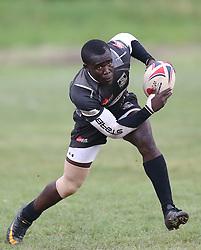 Alex Atuna of Mwamba RFU in action against Mean Machine during their Kenya Cup Tournament at Railway Club In Nairobi, on 3rd December 2016. Mwamba won 51-8. Photo/Fredrick Onyango/www.pic-centre.com (KEN)