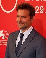 Director Bradley Cooper at the photocall for the film A Star is Born at the 75th Venice Film Festival, on Friday 31st August 2018, Venice Lido, Italy.