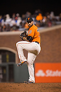 San Francisco Giants relief pitcher George Kontos (70) pitches against the St. Louis Cardinals at AT&T Park in San Francisco, Calif., on September 16, 2016. (Stan Olszewski/Special to S.F. Examiner)
