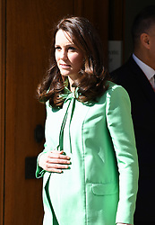 The Duchess of Cambridge departs after convening a symposium on early intervention for children and families at the Royal Society of Medicine, London. Photo credit should read: Doug Peters/EMPICS Entertainment