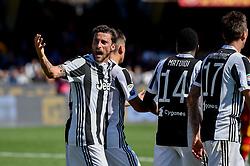 April 7, 2018 - Benevento, Italy - Claudio Marchisio of Juventus celebrates during the Serie A match between Benevento and Juventus at Ciro Vigorito Stadium, Benevento, Italy on 7 April 2018. (Credit Image: © Giuseppe Maffia/NurPhoto via ZUMA Press)