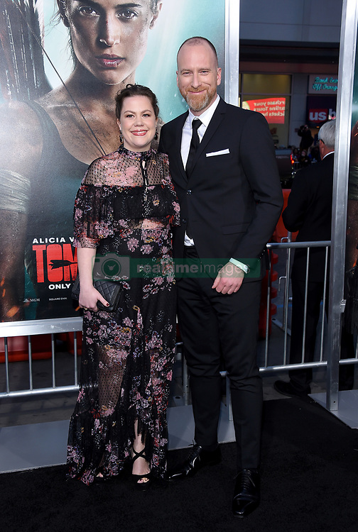 "Alicia Vikander at the U.S. premiere of ""Tomb Raider"" held at the TCL Chinese Theatre IMAX on March 12, 2018 in Hollywood, CA. 12 Mar 2018 Pictured: Roar Uthaug and Ingrid Uthaug. Photo credit: O'Connor/AFF-USA.com / MEGA TheMegaAgency.com +1 888 505 6342"
