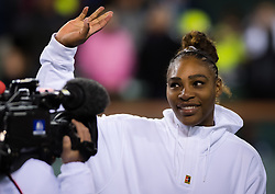 March 8, 2019 - Indian Wells, USA - Serena Williams of the United States after winning her second-round match at the 2019 BNP Paribas Open WTA Premier Mandatory tennis tournament (Credit Image: © AFP7 via ZUMA Wire)
