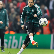 Real Madrid's Cristiano Ronaldo during their UEFA Champions League Quarter-finals, Second leg match Galatasaray between Real Madrid at the TT Arena AliSamiYen Spor Kompleksi in Istanbul, Turkey on Tuesday 09 April 2013. Photo by Aykut AKICI/TURKPIX
