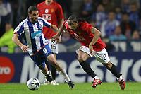 20090415: PORTO, PORTUGAL - FC Porto vs Manchester United: Champions League 2008/2009 Ð Quarter Finals Ð 2nd leg. In picture: Anderson and Lisandro Lopez. PHOTO: Ricardo Estudante/CITYFILES