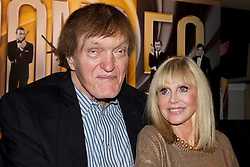 © Licensed to London News Pictures. 24/09/2012. LONDON, UK. Actress Britt Ekland, who played Bond Girl 'Goodnight' in 'The Man with the Golden Gun' and actor Richard Kiel, who played Bond villain 'Jaws' in 'The Spy Who Loved Me' and 'Moonraker' are seen inside HMV's Oxford Street store in London, today (24/09/12) during a photocall. The stars were in London during the final leg of a UK tour to promote the Bond 50 Blu-Ray collection.  Photo credit: Matt Cetti-Roberts/LNP