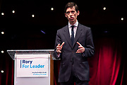 Rory Stewart OBE MP, Secretary of State for International Development formally launches his bid to become the new leader of the Conservative Party and Prime Minister of the United Kingdom at the Udderbelly Festival Southbank on 11th June, 2019 in London, United Kingdom.