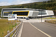 New sports centre, The Works redevelopment area, Ebbw Vale, Blaenau Gwent, South Wales, UK