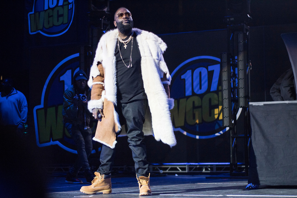 Rick Ross performs at the WGCI Big Jam at the United Center in Chicago, IL on December 30, 2017.