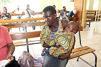 mothers que up to be attended to at Metero Refference Clinic in Lusaka, Zambia on Wednesday 12 November 2014.