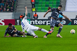November 8, 2018 - Budapest, Hungary - Anel Hadzic (C) in action during the UEFA Europa League Group L match between MOL Vidi FC and FC PAOK at Groupama stadium on Nov 08, 2018 in Budapest, Hungary. (Credit Image: © Robert Szaniszlo/NurPhoto via ZUMA Press)