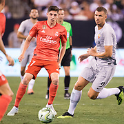 MEADOWLANDS, NEW JERSEY- August 7: Federico Valverde #37 of Real Madrid in action during the Real Madrid vs AS Roma International Champions Cup match at MetLife Stadium on August 7, 2018 in Meadowlands, New Jersey. (Photo by Tim Clayton/Corbis via Getty Images)