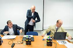 Enzo Smrekar, Jozko Krizan and Jurij Zurej during meeting of Executive Committee of Ski Association of Slovenia (SZS) on September 22, 2015 in SZS, Ljubljana, Slovenia. Photo by Vid Ponikvar / Sportida