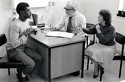 Signing at City Hospital, Nottingham UK 1985