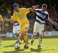 Photo: Tony Oudot.<br />Queens Park Rangers v Sheffield Wednesday. Coca Cola Championship. 10/03/2007.<br />Tommy Spurr of Sheffield Wednesday with Martin Rowlands of QPR