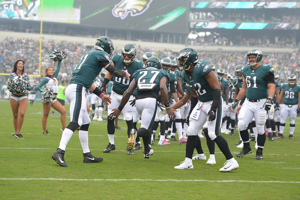 The Philadelphia Eagles beat the Arizona Cardinals 34-7 at Lincoln Financial Field on October 8, 2017 in Philadelphia, Pennsylvania.  (Photo by Drew Hallowell/Philadelphia Eagles)