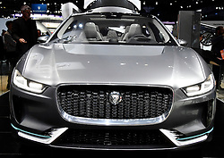 Nov 16, 2016. Los Angeles CA. Jaguar I-Pace concept car on display during the media day at the Los Angeles Auto show Wednesday. The show opens to the public on Nov 18th to the 27th.  photos by Gene Blevins/LA DailyNews/ZumaPress. (Credit Image: © Gene Blevins via ZUMA Wire)