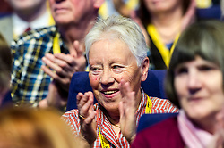 Pictured: Full support for Mhairi Black's speech to conference.<br /> The members of the SNP gathered in the Scottish Events Centre in Glasgow for their annual conference.<br /> <br /> Ger Harley | EEm 9 October 2017