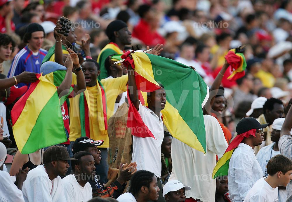 Fussball International U 20 WM  Chile vs Kongo Kongolesische Fans.