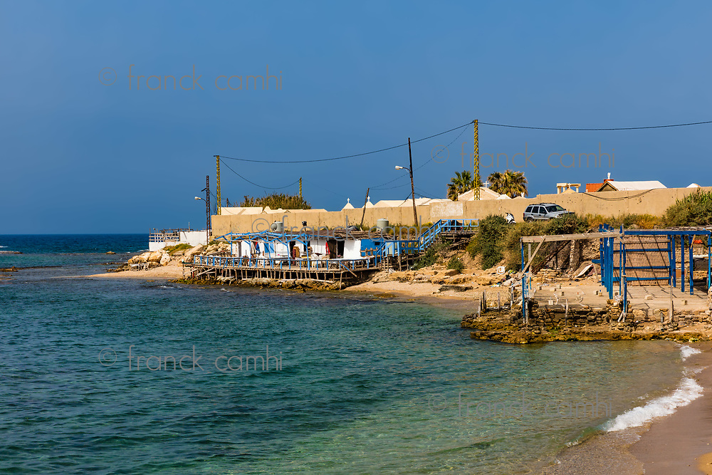 beach  Tyre Sur in South Lebanon Middle east