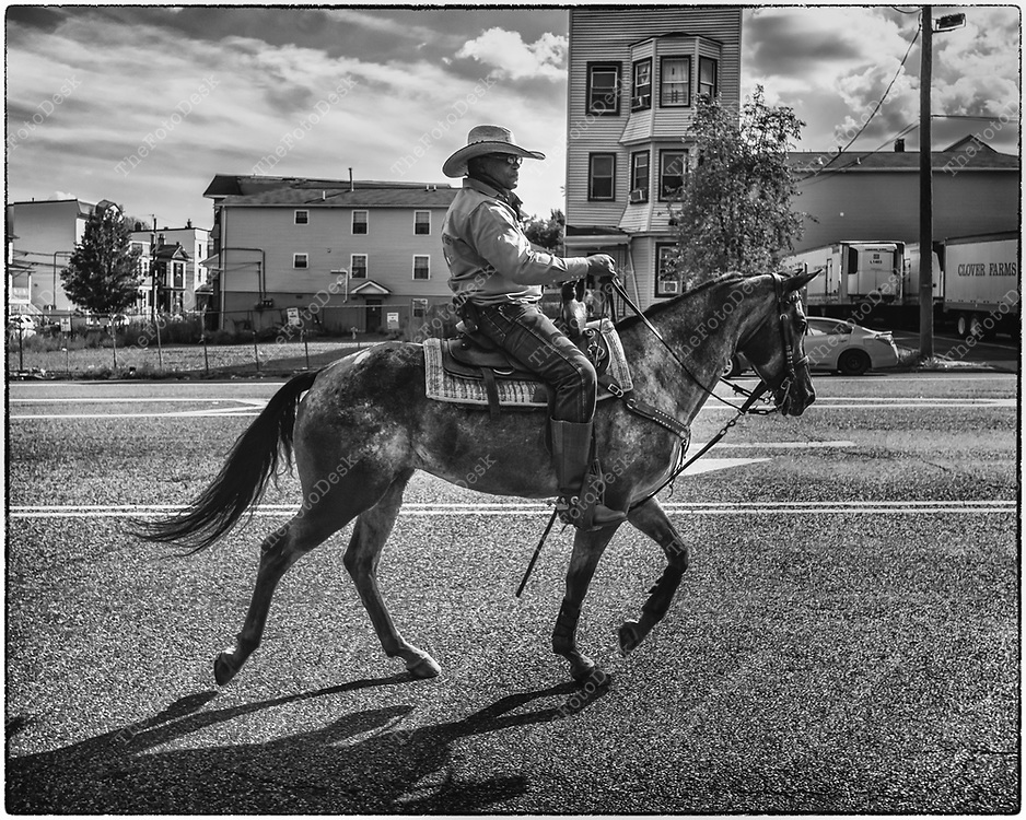 NEWARK, NEW JERSEY:  Crazy Faith Riders ride in Newark, NJ on Friday, September 25, 2020,  The Crazy Faith riders is a Faith based riding club located in central New Jersey. Their goal is to share our common interest of horses among a community of people.