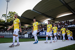 Players of NK Bravo entering the pitch before football match between NS Mura and NK Bravo in 3nd Round of Prva liga Telemach 2021/22, on 31st of July, 2021 in Fazanerija, Murska Sobota, Slovenia. Photo by Blaž Weindorfer / Sportida