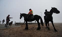 South Africa - Cape Town - 2 May 2020 - SAPS and Metro Police patrol the coasts as Sea Point residents take full advantage of new regulationsthat allow exercise between 6am and 9am during Lockdown Level 4. Photographer: Armand Hough/African News Agency(ANA)