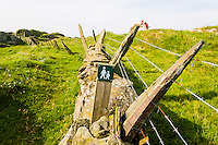 Norway, Rogaland, Kvitsøy. Old fence.