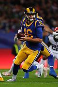 Rams quarterback Jared Goff #16 during the NFL game between Cincinnati Bengals and LA Rams at Wembley Stadium in London, United Kingdom. 27 October 2019