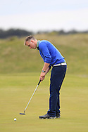 Thomas Mulligan (Co. Louth) on the 8th green during Round 1 of the East of Ireland Amateur Open Championship at Co. Louth Golf Club, Baltray on Saturday 30th May 2015.<br /> Picture:  Thos Caffrey / www.golffile.ie